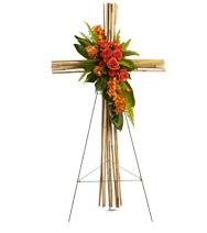Croix en bambou géant
