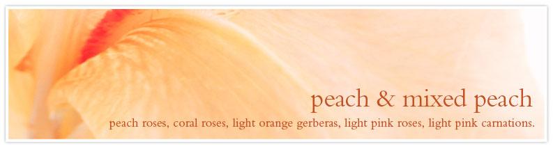 peach & mixed peach