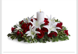 bouquets in beautiful reds and crisp whites