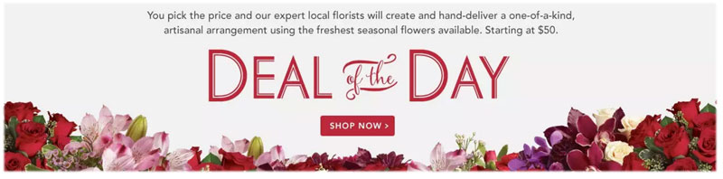 Send Valentine�s Day flowers to Fredericton, NB with Flowers for Canada, your local florists