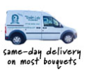Same-Day Delivery on most bouquets to #SEOContentCity#, #statecode# with #shopname#, your local flor