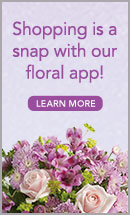 Shopping is a snap with our floral app!