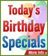 Today's Birthday Specials