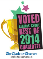 Voted Reader's Choice Best of Charlotte 2014