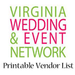 Virginia Wedding & Event Network Printable Vendor